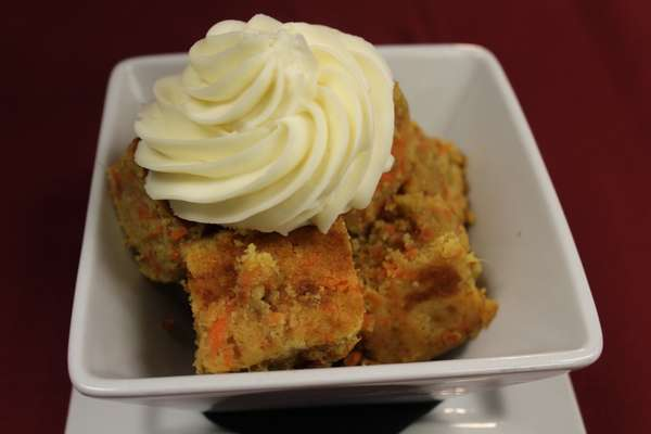 Bourbon Carrot Cake Bread Pudding