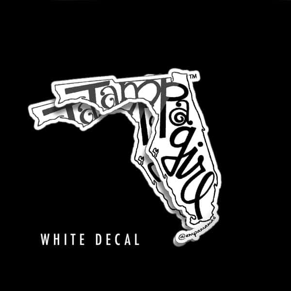 Tampa Girl Decal - White