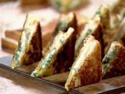 Mini Grilled Cheese Triangles