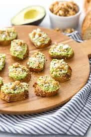 Mini Avocado Toast Bites