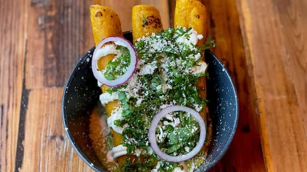 Flautas—Choice of Lamb or Potato
