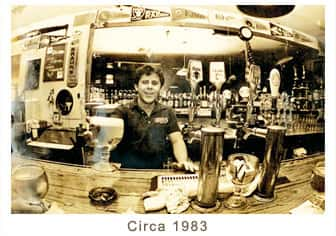old photo of bar