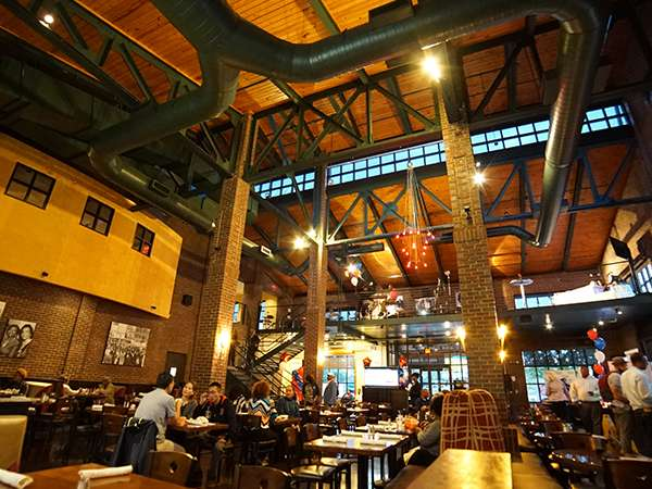 view of rafters at paschals