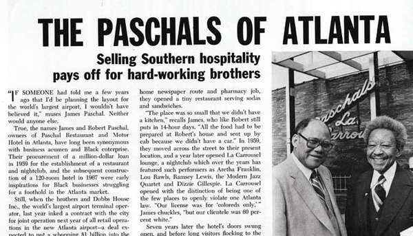 The Paschals of Atlanta - Selling Southern hospitality pays off for hard-working brothers