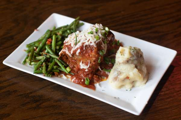meatloaf and green beans