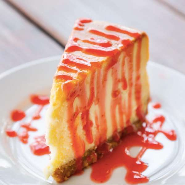 New York Style Cheescake with seasonal Fruit topping