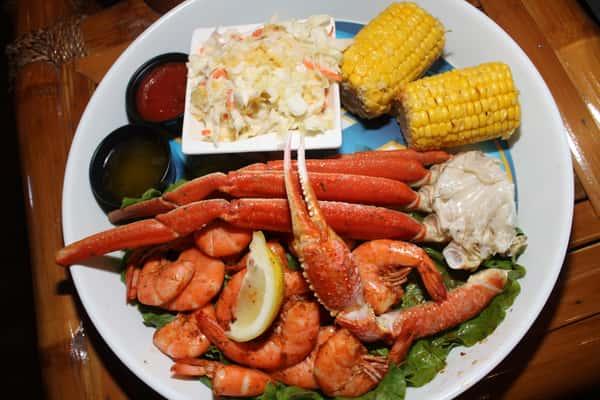 Snow Crab Legs and Peel N Eat Shrimp Combination