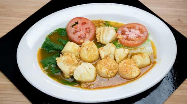 45. Scallops al Ajillo - Scallops in Garlic Sauce