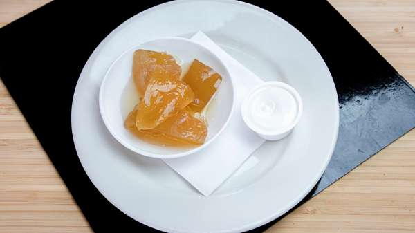 Dulce De Papaya Con Queso Crema