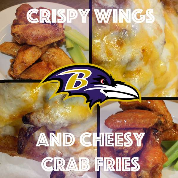 Crispy Wings and Cheesy Crab Fries