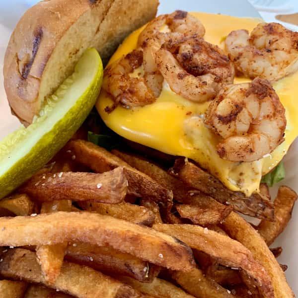 Shrimp Dip Burger