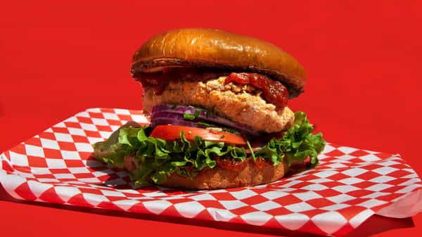 BBQ Rotisserie Fried Chicken Sandwich