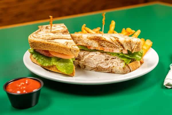sandwich on marble rye