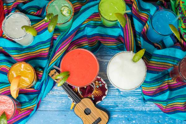 Group of Colorful Margaritas