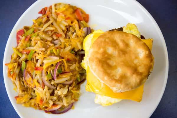 Create your own B.S. (Breakfast Sandwich)
