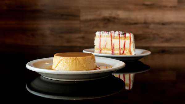 tres leche and flan