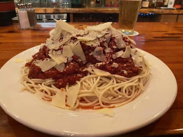 Spaghetti and Homemade Meatballs