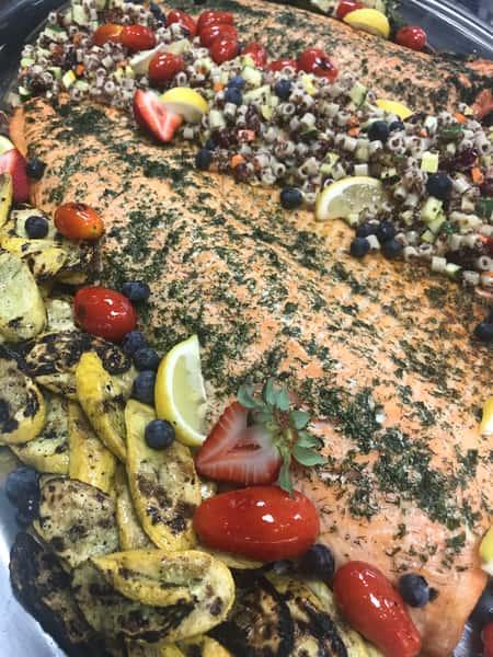 Cedar Plank Salmon with Grilled Asparagus