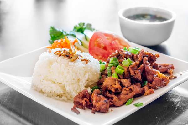 grilled pork rice platter