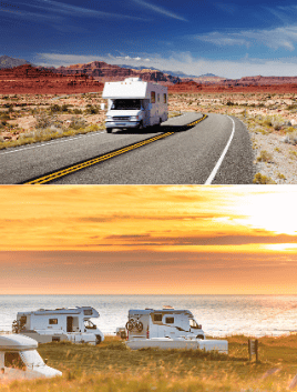 RV'S ON THE ROAD