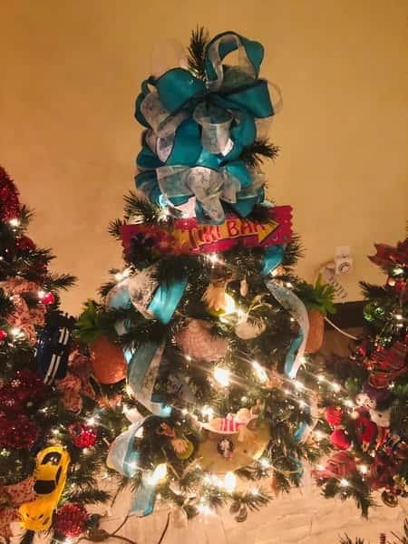 tiki bar christmas tree