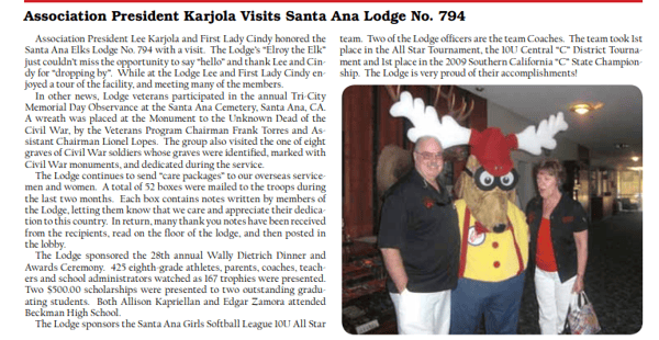article about wally Dietrich awards 2009