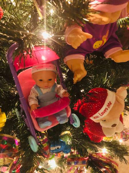 Baby Doll Christmas Tree
