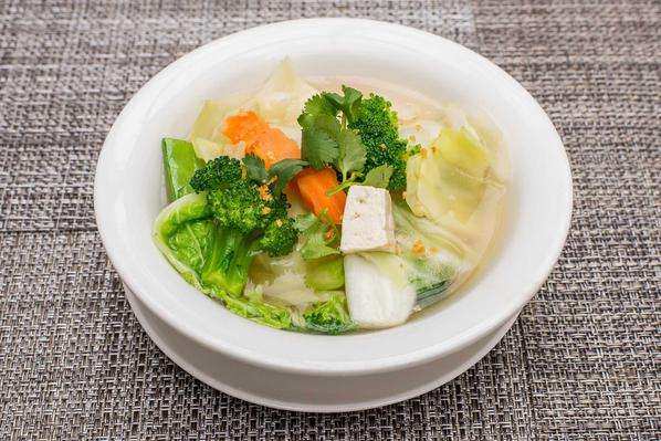 Vegetables and Soft Tofu Soup