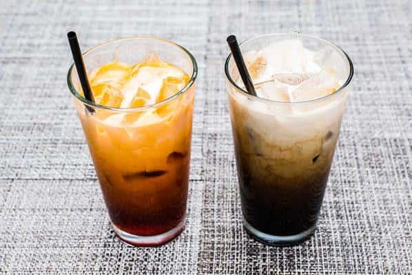 Thai Ice Tea, and Thai Ice Coffee