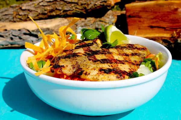 Margarita-Grilled Tilapia Salad