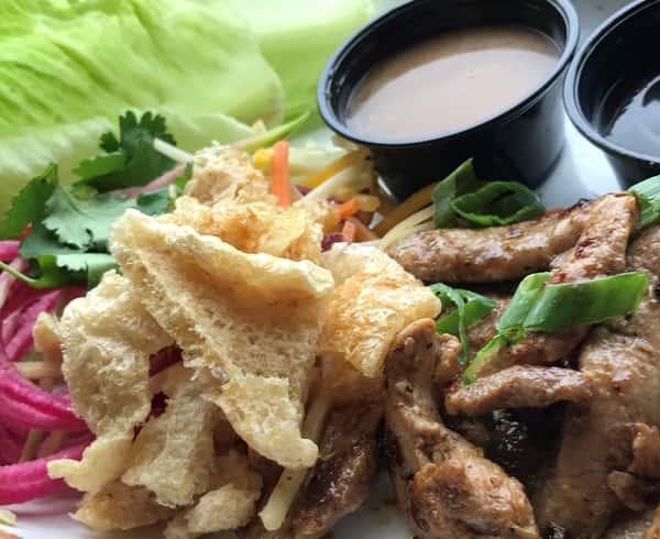 Asian Duck Lettuce Wraps