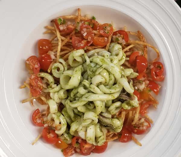Grilled Calamari al Pesto
