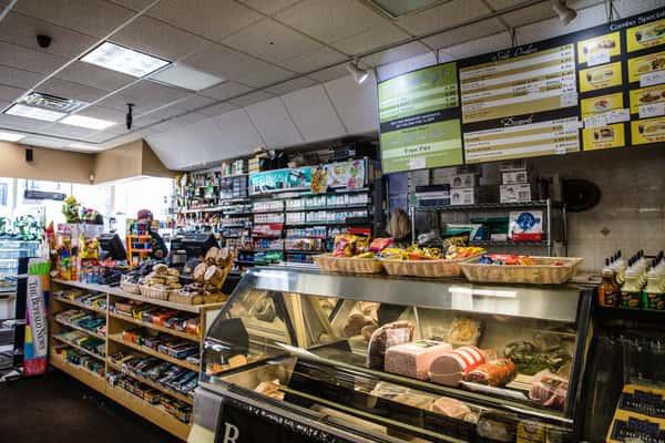 checkout area