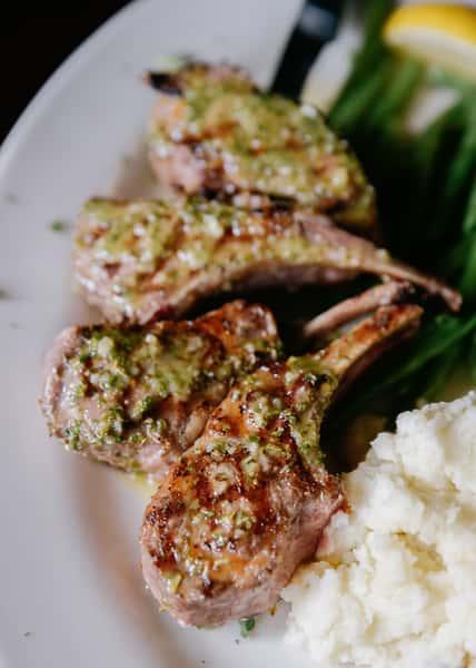 1 LB marinated lamb chops