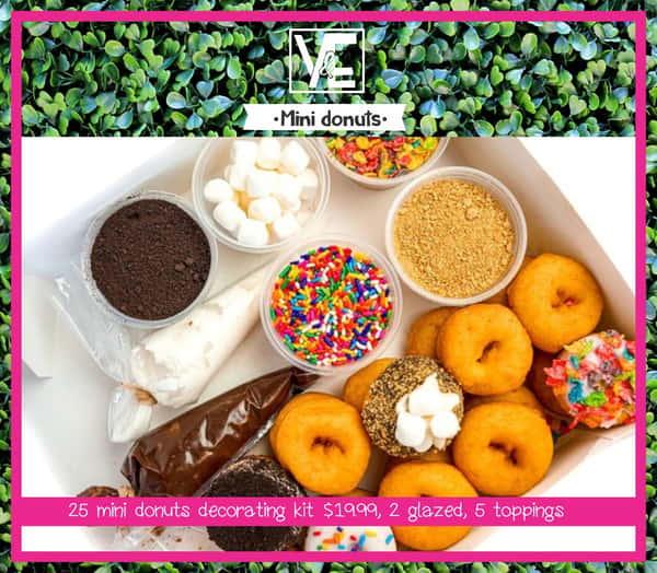 25 Mini Donuts Decorating Kit