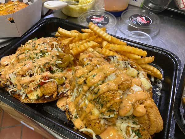 Full Boom Fish & Shrimp Sandwich