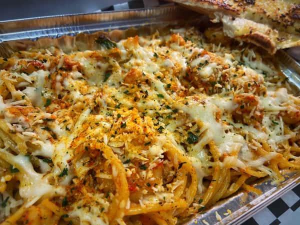 Sea and Soul Food Spaghetti (Take & Bake)