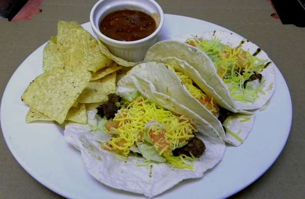 Taco Platter with Chips and Salsa