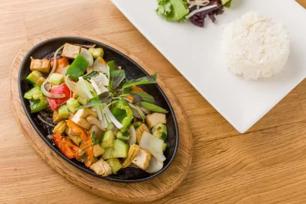 Sizzling Tofu Rice Dish