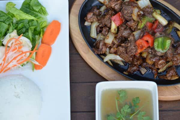 Sizzling Shaken Beef Rice