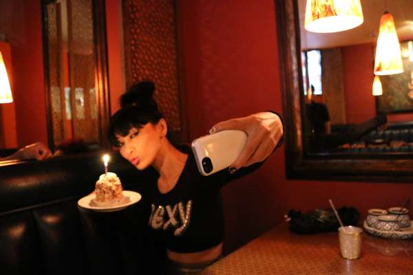 Bai Ling always find time to come enjoy meals at Emporium Thai