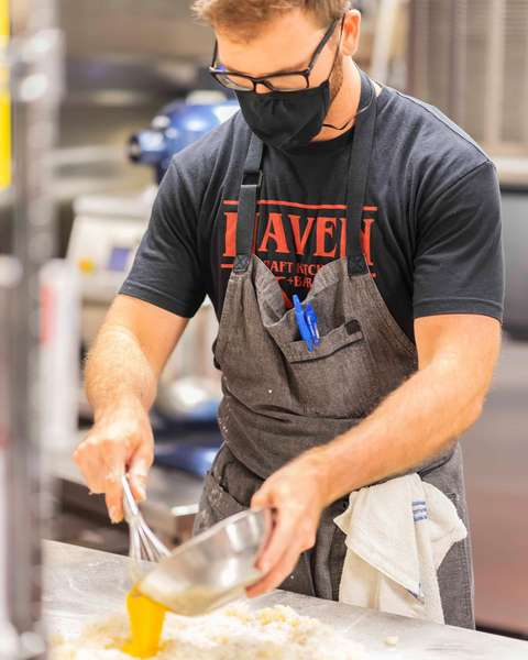 chef making gnocchi