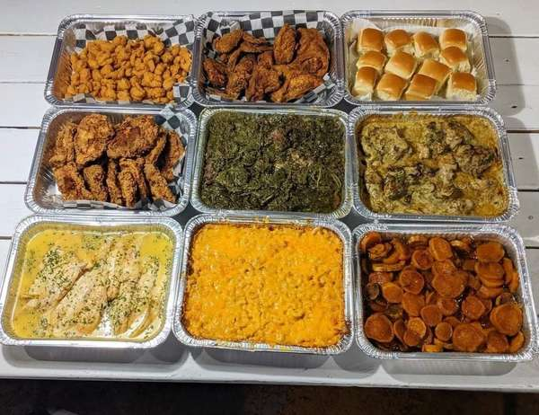 Catering food trays