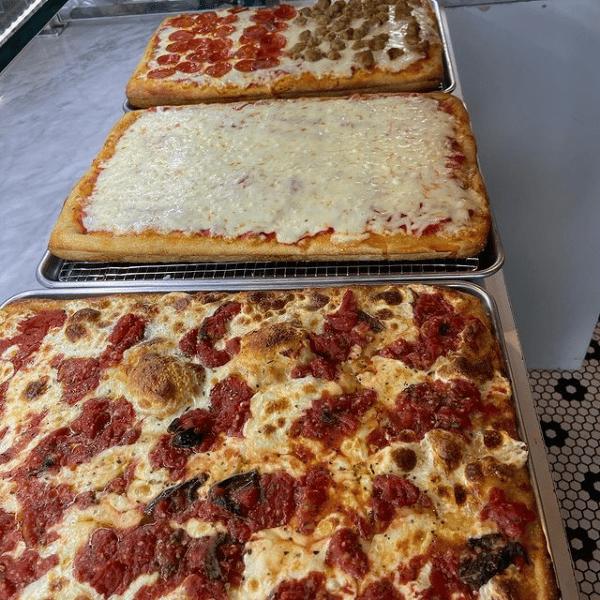 Three pizzas
