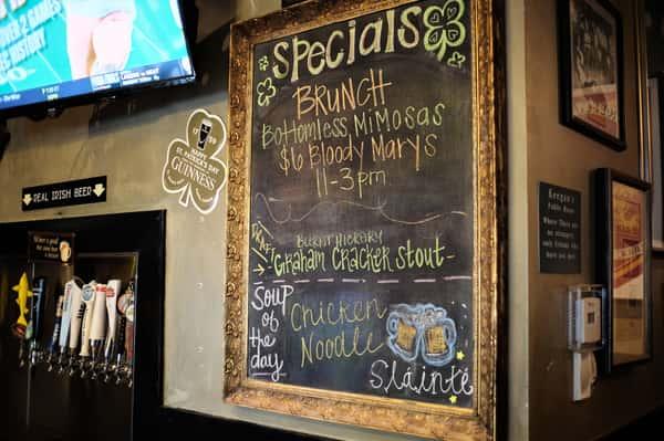 chalk board specials