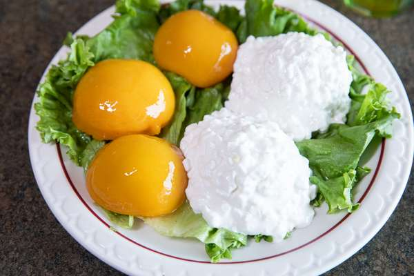cottage cheese peaches