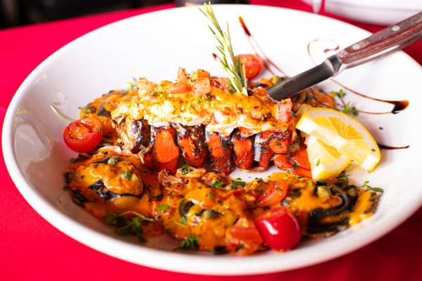 Lobster Ravioli and Lobster Tail
