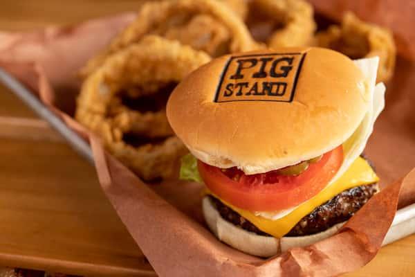 Wood Grilled 1/2 Lb. Hamburger