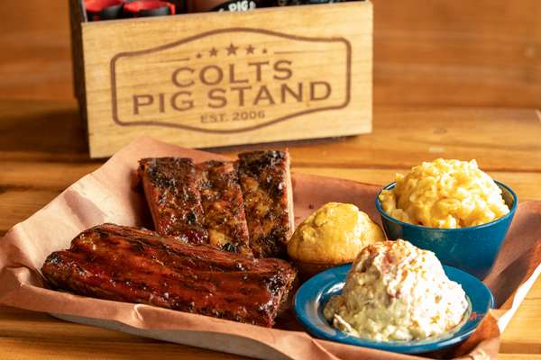 Combo Rib Plate (Baby Back & St. Louis)
