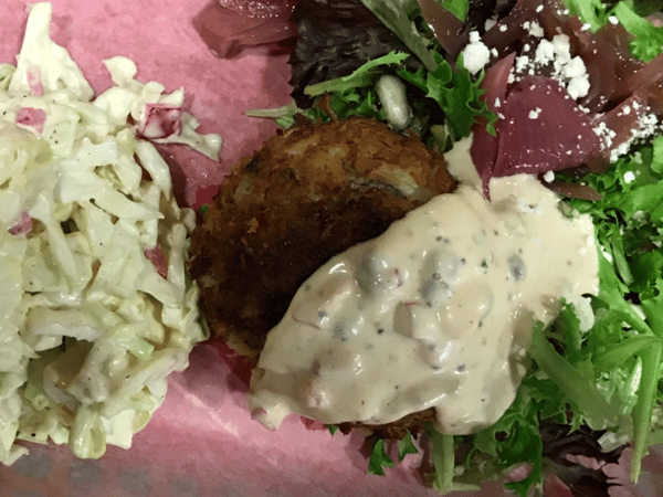 "The ""Grille"" Crab Cake Salad"